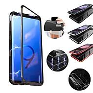 Недорогие Чехлы и кейсы для Galaxy S9 Plus-Кейс для Назначение SSamsung Galaxy S9 Plus / S9 Защита от удара / Магнитный Кейс на заднюю панель Однотонный Твердый Металл для S9 / S9 Plus / S8 Plus