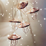 cheap -1.5m String Lights 10 LEDs Warm White Cool AA Batteries Powered 1pc