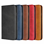 Case For Apple iPhone XR / iPhone XS Max Card Holder / with Stand Full Body Cases Solid Colored Hard Genuine Leather for iPhone XS / iPhone XR / iPhone XS Max