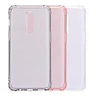 お買い得  携帯電話ケース-ケース 用途 OnePlus OnePlus 6 耐衝撃 / 半透明 バックカバー ソリッド ソフト TPU のために OnePlus 6