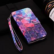 Недорогие Чехлы и кейсы для Galaxy S7 Edge-Кейс для Назначение SSamsung Galaxy S9 Plus / S9 Кошелек / Бумажник для карт / со стендом Чехол Геометрический рисунок Твердый Кожа PU для S9 / S9 Plus / S8 Plus