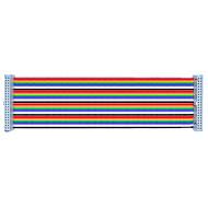 お買い得  Arduino 用アクセサリー-gpioカラフルな40pのケーブル20センチメートルラズベリーパイb