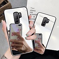 Недорогие Чехлы и кейсы для Galaxy S8 Plus-Кейс для Назначение SSamsung Galaxy S9 Plus / S9 Зеркальная поверхность Кейс на заднюю панель Однотонный Твердый ПК для S9 / S9 Plus / S8 Plus