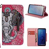 Недорогие Чехлы и кейсы для Galaxy S9-Кейс для Назначение SSamsung Galaxy S9 Кошелек / Бумажник для карт / со стендом Чехол Слон Твердый Кожа PU для S9