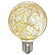 baratos Lâmpadas de LED Filamento-1pç 3 W 200-300 lm E26 / E27 Lâmpadas de Filamento de LED G95 33 Contas LED SMD Decorativa / Estrelado Branco Quente 85-265 V