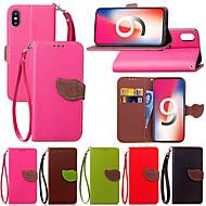 Недорогие Кейсы для iPhone 8-Кейс для Назначение Apple iPhone XR / iPhone XS Max Бумажник для карт / со стендом / Флип Чехол Растения Твердый Кожа PU для iPhone XS / iPhone XR / iPhone XS Max