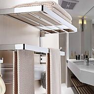 baratos Gadgets de Banheiro-Barra para Toalha Multicamadas / Novo Design Moderna Aço Inoxidável / Ferro 1pç Casal (L200 cm x C200 cm) Montagem de Parede