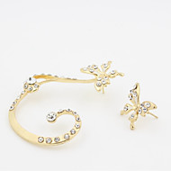 cheap -Women's Mismatched Stud Earrings - Resin Butterfly Stylish, Simple Gold For Daily