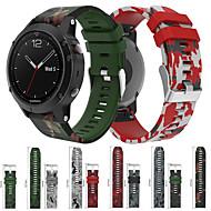 Недорогие Аксессуары для смарт-часов-Ремешок для часов для Fenix 5x / Fenix 5 Garmin Спортивный ремешок силиконовый Повязка на запястье