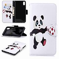 Недорогие Кейсы для iPhone 8-Кейс для Назначение Apple iPhone XR / iPhone XS Max Кошелек / Бумажник для карт / со стендом Чехол Панда Твердый Кожа PU для iPhone XS / iPhone XR / iPhone XS Max