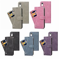 Case For Apple iPhone XS / iPhone XS Max Wallet / Card Holder / with Stand Full Body Cases Solid Colored Hard PU Leather for iPhone XS / iPhone XR / iPhone XS Max