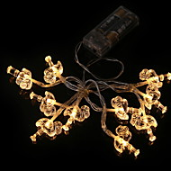 cheap -1.2m String Lights 10 LEDs Warm White New Design AA Batteries Powered 1pc