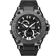 levne -SMAEL Pánské Sportovní hodinky Digitální hodinky japonština Japonské Quartz Z umělé kůže Černá 50 m Voděodolné Kalendář Chronograf Analog - Digitál Na běžné nošení Módní - Černá Černá a zlatá