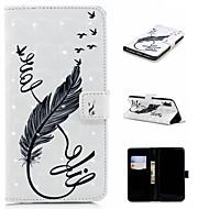Недорогие Кейсы для iPhone 8 Plus-Кейс для Назначение Apple iPhone XS / iPhone XS Max Кошелек / Бумажник для карт / со стендом Чехол Перья Твердый Кожа PU для iPhone XS / iPhone XR / iPhone XS Max