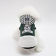 abordables -Chiens Manteaux Vêtements pour Chien Personnage / Britannique Jaune / Vert / Rose Coton Costume Pour les animaux domestiques Unisexe Décontracté / Quotidien / Guêtres