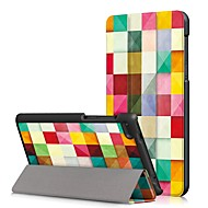 preiswerte Handyhüllen-Hülle Für Lenovo Tab 7 Essential / Lenovo Tab 4 7 Essential Staubdicht / Flipbare Hülle / Automatisches Schlafen / Aufwachen Ganzkörper-Gehäuse Cartoon Design Hart PU-Leder für Lenovo Tab 7 Essential