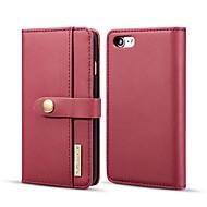 お買い得  -DG.MING ケース 用途 Apple iPhone 8 / iPhone 7 ウォレット / カードホルダー / スタンド付き フルボディーケース ソリッド ハード 本革 のために iPhone 8 / iPhone 7