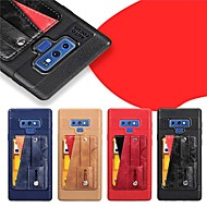 Недорогие Чехлы и кейсы для Galaxy Note 8-Кейс для Назначение SSamsung Galaxy Note 9 / Note 8 Бумажник для карт / со стендом / Матовое Кейс на заднюю панель Однотонный Твердый Кожа PU для Note 9 / Note 8