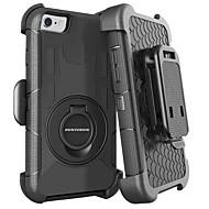 Недорогие Кейсы для iPhone 8-BENTOBEN Кейс для Назначение Apple iPhone 8 / iPhone 7 Защита от удара / Кольца-держатели / Матовое Чехол Однотонный Твердый Силикон / ПК для iPhone 8 / iPhone 7 / iPhone 6s