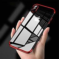 Недорогие Кейсы для iPhone 8-Кейс для Назначение Apple iPhone XR / iPhone XS Max Покрытие / Прозрачный Кейс на заднюю панель Однотонный Мягкий ТПУ для iPhone XS / iPhone XR / iPhone XS Max
