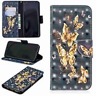 Недорогие Чехлы и кейсы для Galaxy S8 Plus-Кейс для Назначение SSamsung Galaxy S9 Plus / S8 Кошелек / Бумажник для карт / со стендом Чехол Бабочка Твердый Кожа PU для S9 / S9 Plus / S8 Plus
