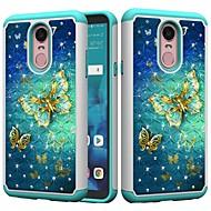 preiswerte Handyhüllen-Hülle Für LG K10 2018 / G7 Stoßresistent / Strass / Muster Rückseite Schmetterling / Strass Hart PC für LG Stylo 4 / LG K10 2018 / LG K10 (2017)