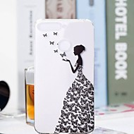 abordables Fundas / carcasas para Huawei Honor-Funda Para Huawei Honor 7A / Honor 7C(Enjoy 8) Transparente / Diseños Funda Trasera Mariposa / Chica Sexy Suave TPU para Huawei Honor 10 / Honor 9 / Huawei Honor 9 Lite