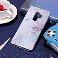 Недорогие Чехлы и кейсы для Galaxy S7-Кейс для Назначение SSamsung Galaxy S9 Plus / S8 Покрытие / С узором Кейс на заднюю панель Мрамор Мягкий ТПУ для S9 / S9 Plus / S8 Plus