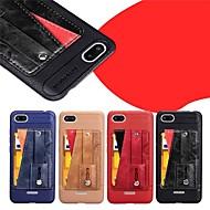 preiswerte Handyhüllen-Hülle Für Xiaomi Redmi Note 5A / Redmi Note 5 Pro Kreditkartenfächer / mit Halterung / Mattiert Rückseite Solide Hart PU-Leder für Redmi Note 5A / Xiaomi Redmi Note 5 Pro / Xiaomi Redmi Note 4X