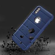 Недорогие Кейсы для iPhone 8 Plus-Кейс для Назначение Apple iPhone X Защита от удара / со стендом Кейс на заднюю панель Однотонный Твердый ТПУ для iPhone X / iPhone 8 Pluss / iPhone 8