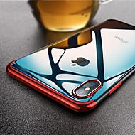 Недорогие Кейсы для iPhone 8-Кейс для Назначение Apple iPhone X / iPhone XS Max Ультратонкий / Прозрачный Кейс на заднюю панель Однотонный Мягкий ТПУ для iPhone XS / iPhone XR / iPhone XS Max