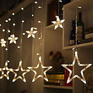 abordables Tiras de Luces LED-2.5m Cuerdas de Luces 138 LED Blanco Cálido Decorativa 220-240 V 1 juego