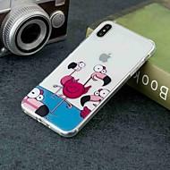 Недорогие Кейсы для iPhone 8 Plus-Кейс для Назначение Apple iPhone XR / iPhone XS Max Прозрачный / С узором Кейс на заднюю панель Фламинго Мягкий ТПУ для iPhone XS / iPhone XR / iPhone XS Max
