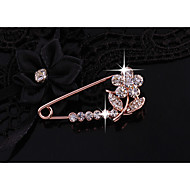 Women's Classic Brooches - Flower Shape Simple Brooch Light Pink For Daily