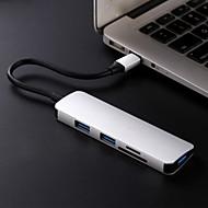 preiswerte USB Hubs & Switches-5 USB-Hub USB 3.1 Typ C USB 3.1 Typ C Ultra Slim / OTG / Spielen Sie mit Apple-Logo Daten-Hub