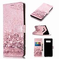 Недорогие Чехлы и кейсы для Galaxy Note-Кейс для Назначение SSamsung Galaxy Note 9 / Note 8 Кошелек / Бумажник для карт / со стендом Чехол Мрамор Твердый Кожа PU для Note 9 / Note 8