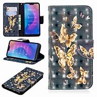 preiswerte Handyhüllen-Hülle Für Xiaomi Xiaomi Pocophone F1 / Xiaomi Redmi 6 Pro Geldbeutel / Kreditkartenfächer / mit Halterung Ganzkörper-Gehäuse Schmetterling Hart PU-Leder für Redmi Note 5A / Xiaomi Redmi Note 5 Pro