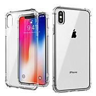 Etui Til Apple iPhone XS / iPhone XS Max Støtsikker / Gjennomsiktig Bakdeksel Ensfarget Myk TPU til iPhone XS / iPhone XR / iPhone XS Max
