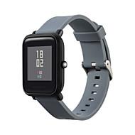 abordables Correas para Xiaomi-Ver Banda para Huami Amazfit Bip Younth Watch Xiaomi Hebilla Moderna Silicona Correa de Muñeca