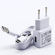 Laturi kotiin USB-laturi US-pistoke / EU-pistoke kanssa kaapeli / Laturisetti 1 USB-portti 2 A 100~240 V varten S7 Active / S7 edge / S7
