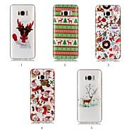 Недорогие Чехлы и кейсы для Galaxy S8-Кейс для Назначение SSamsung Galaxy S9 Plus / S8 Plus IMD / С узором Кейс на заднюю панель Рождество Мягкий ТПУ для S9 / S9 Plus / S8 Plus
