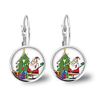 levne Šperky&Hodinky-Dámské Křišťál Retro styl Náušnice - Klipsy Náušnice - Vánoční santa obleky, Vánoční stromek Animák, Módní, Cute Style Stříbrná Pro Vánoce Dar