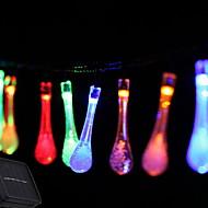 billige LED-kædelys-2.5m Lysslynger 10 lysdioder Multifarvet Solar / Dekorativ Soldrevet 1set