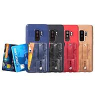 Недорогие Чехлы и кейсы для Galaxy S7 Edge-Кейс для Назначение SSamsung Galaxy S9 Plus / S8 Plus Бумажник для карт / со стендом / Матовое Кейс на заднюю панель Однотонный Твердый Кожа PU для S9 / S9 Plus / S8 Plus