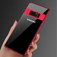 Недорогие Чехлы и кейсы для Galaxy Note 8-Кейс для Назначение SSamsung Galaxy Note 9 / Note 8 Покрытие / Ультратонкий / Прозрачный Кейс на заднюю панель Однотонный Мягкий ТПУ для Note 9 / Note 8