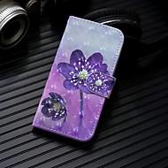 Недорогие Чехлы и кейсы для Galaxy S9 Plus-Кейс для Назначение SSamsung Galaxy S9 Plus / S9 Кошелек / Бумажник для карт / со стендом Чехол Цветы Твердый Кожа PU для S9 / S9 Plus / S8 Plus