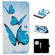 Недорогие Кейсы для iPhone 8-Кейс для Назначение Apple iPhone XS / iPhone XS Max Кошелек / Бумажник для карт / со стендом Чехол Бабочка Твердый Кожа PU для iPhone XS / iPhone XR / iPhone XS Max