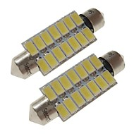 halpa -sencart 2kpl 41mm autolamput 7w smd 5730 420 lm 14 valkoinen / lämmin valkoinen led-valot / ulkovalot