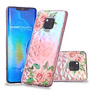お買い得  携帯電話ケース-ケース 用途 Huawei Huawei Mate 20 Lite / Huawei Mate 20 Pro パターン バックカバー フラワー ソフト TPU のために Huawei Nova 3i / P smart / Huawei P Smart Plus