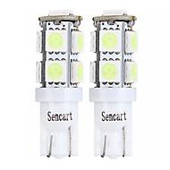 abordables Intermitentes para Coche-SENCART 4pcs T10 / BA9S Motocicleta / Coche Bombillas 2 W SMD 5050 120 lm 9 LED Luz de Intermitente / Luz de la cola / Luces interiores Para